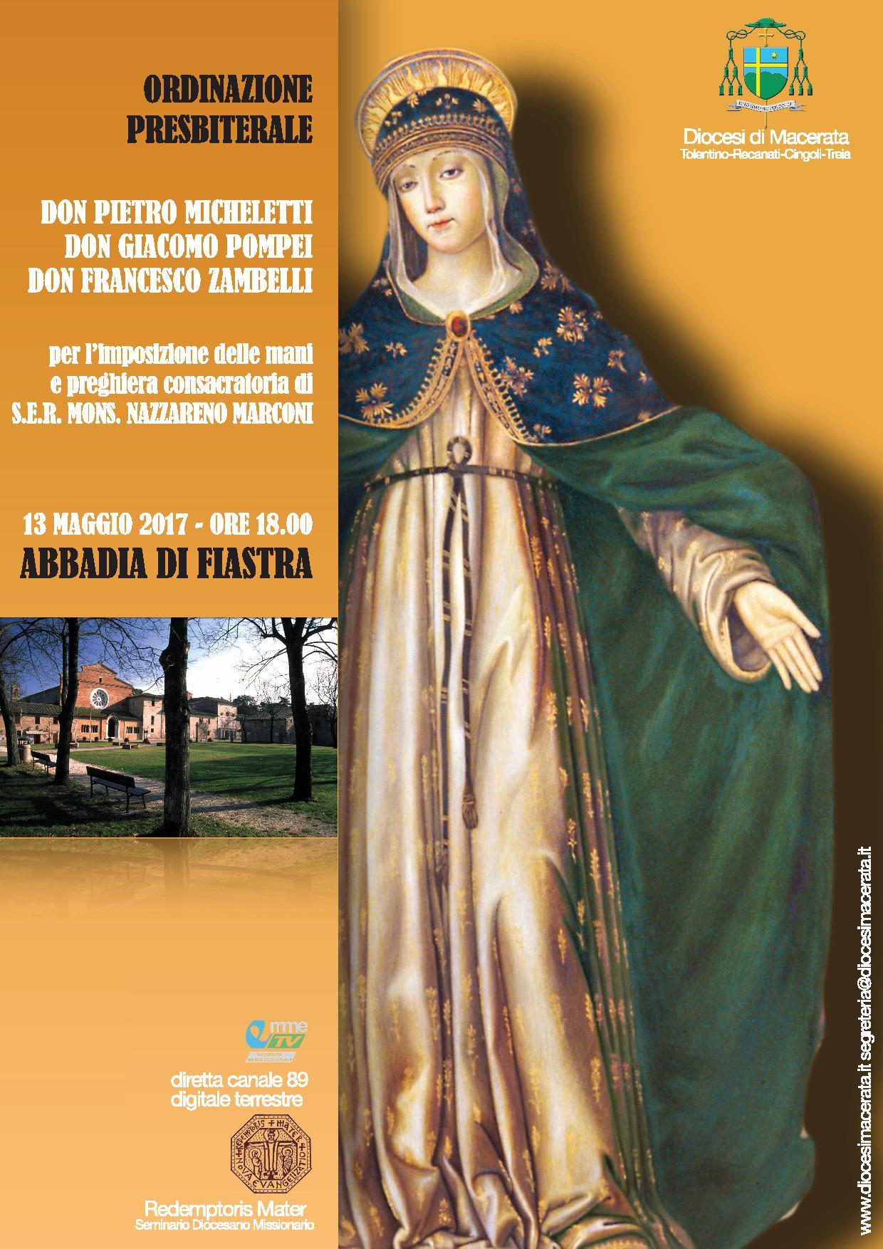 13 maggio: Ordinazioni Presbiterali